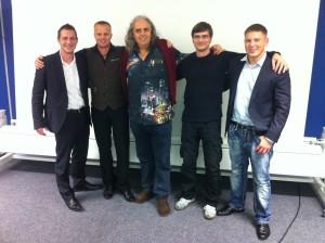 Uwe Rögner mit René Renk, Gunnar Kessler, Ernst Crameri und Kris Stelljes