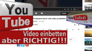 youtube video einbetten