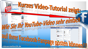 youtube video auf facebook posten